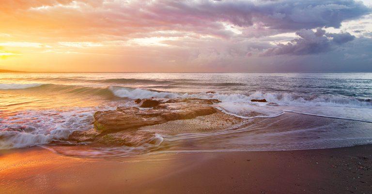 playa de esquinzo sonnenuntergang