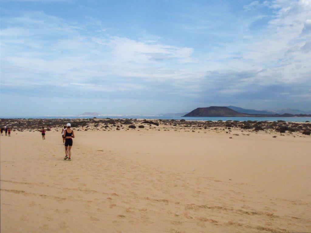 Doris Schober beim Halbmarathon auf FuerteventuraHalbmarathon