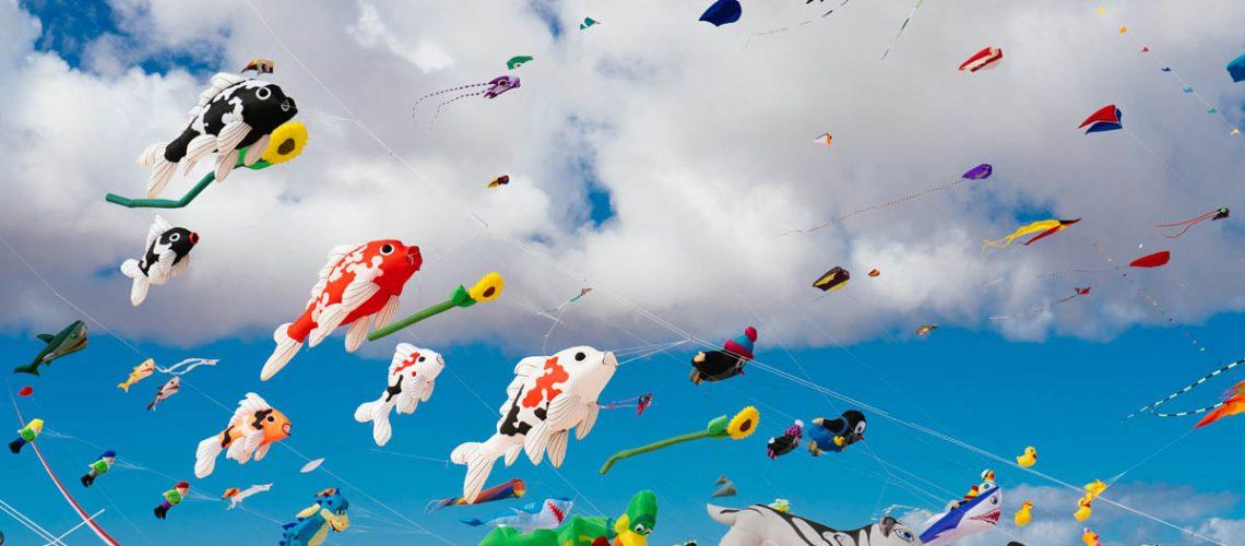 Drachen beim Drachenfest auf Fuerteventura