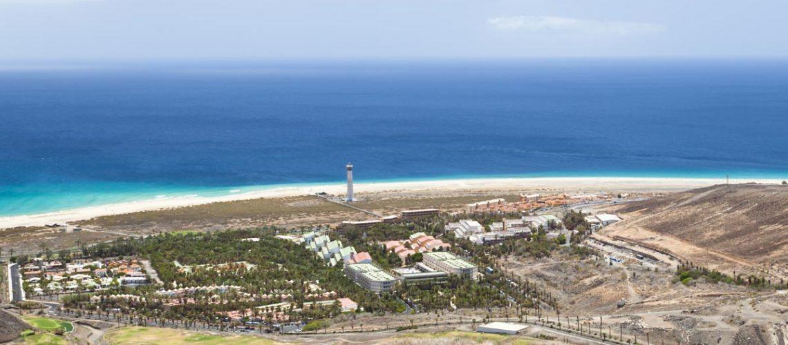 Jandia Playa Fuerteventura vom Berg aus betrachtet